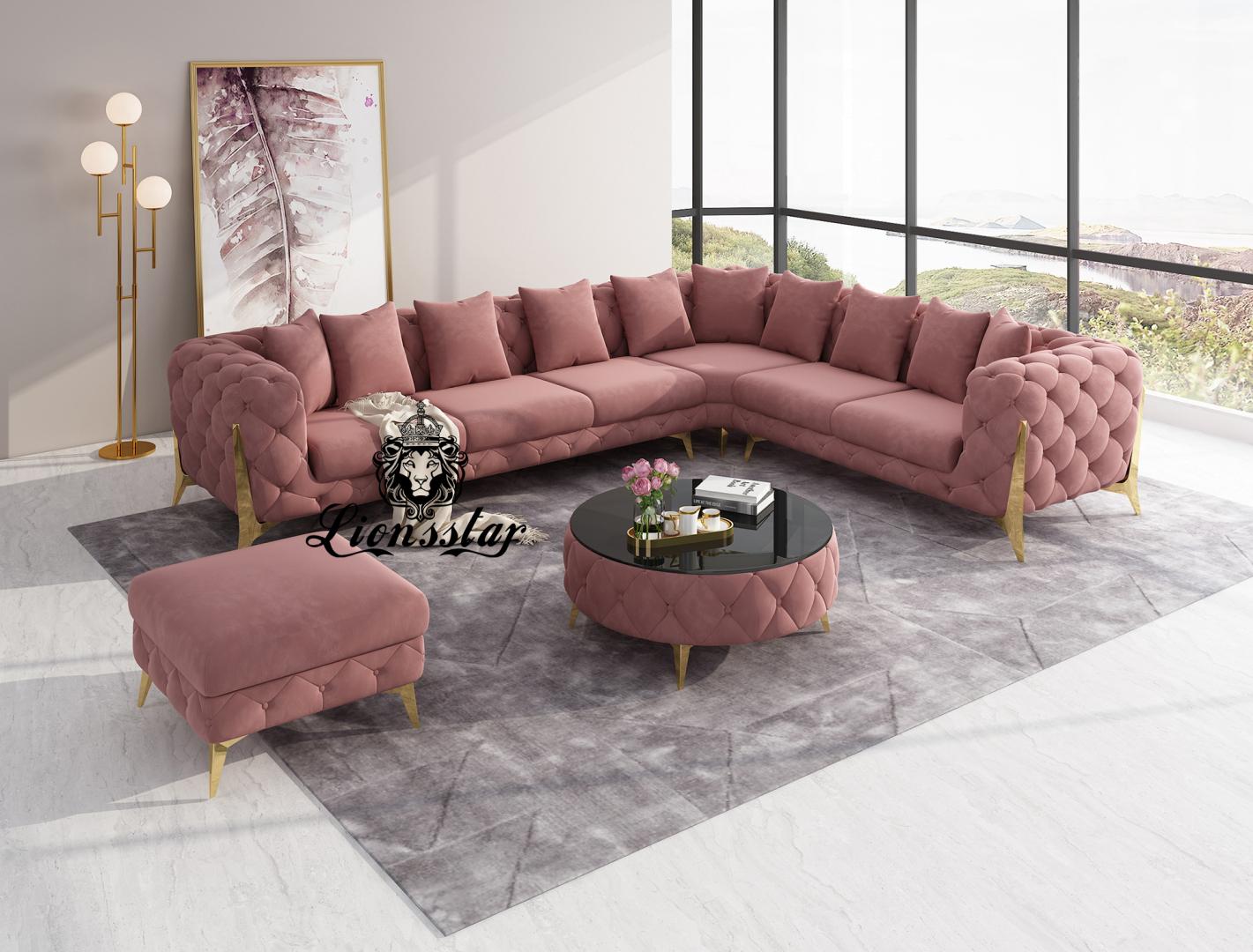Luxus Designer Wohnlandschaft L-Form Loft-Stil Honeycomb