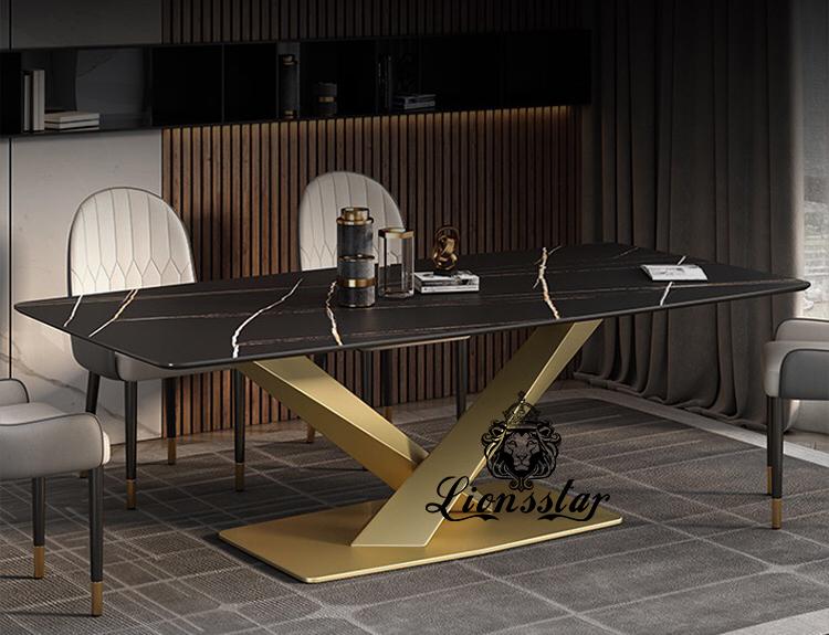 Luxus Designer Esstisch Bridge Gold