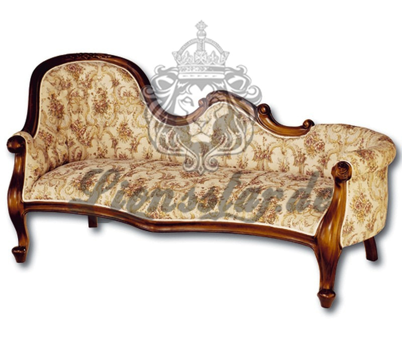 Recamiere Barock Mahagoni Holz R.225