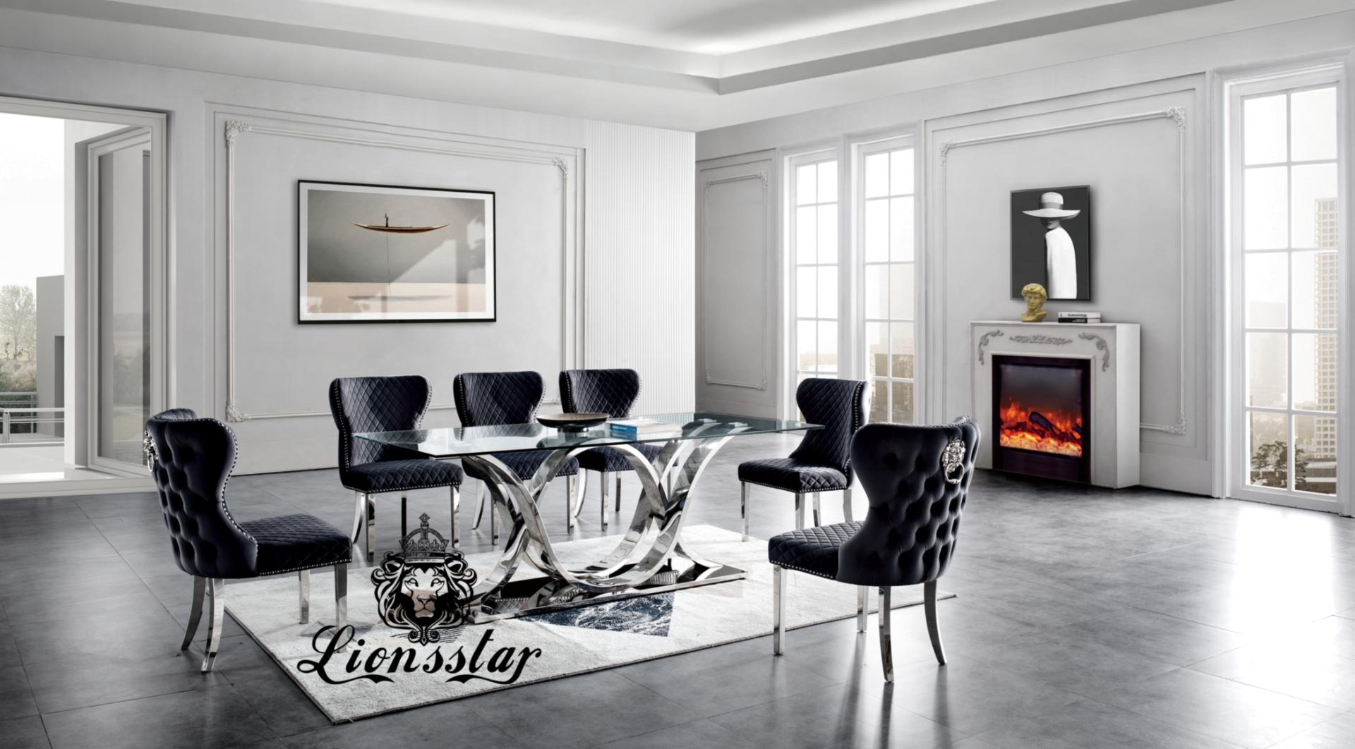 Luxus Designer Esstisch Set Klassik Industry