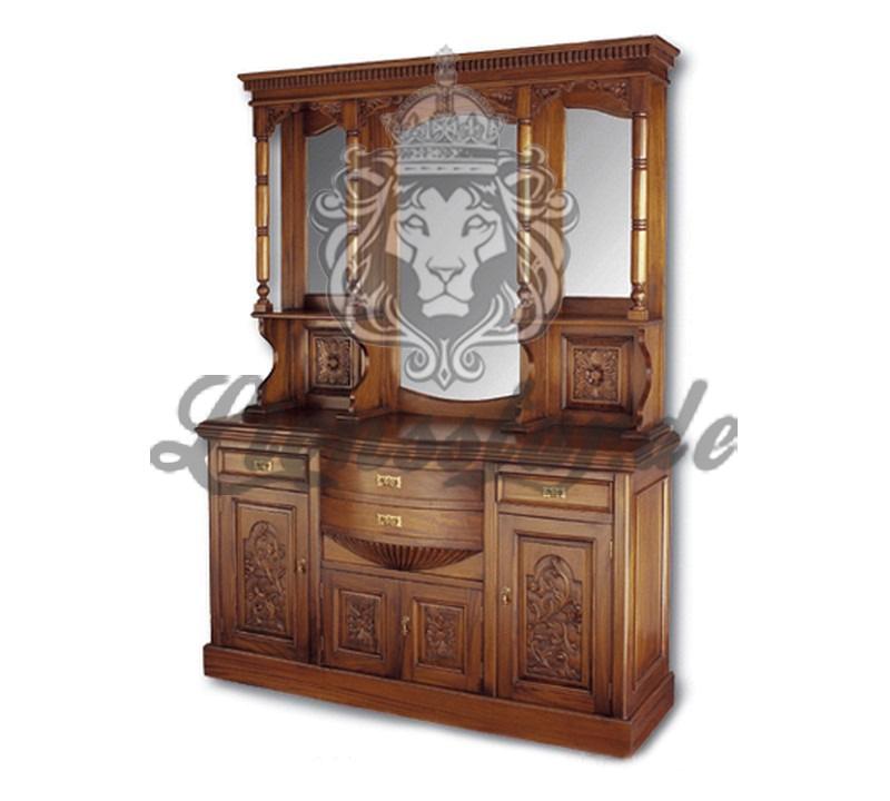 Spiegelkommode Barock Mahagoni Holz Sk.177