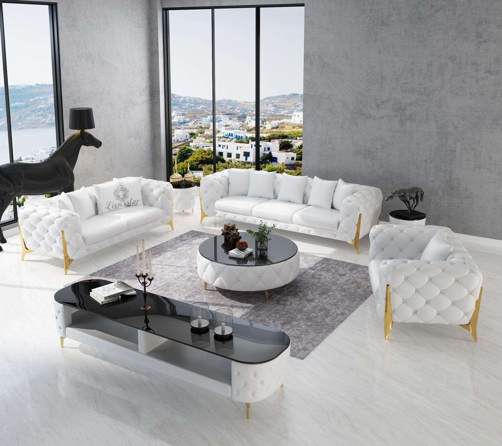 Luxus Design Sofa Set Clouds High Leg