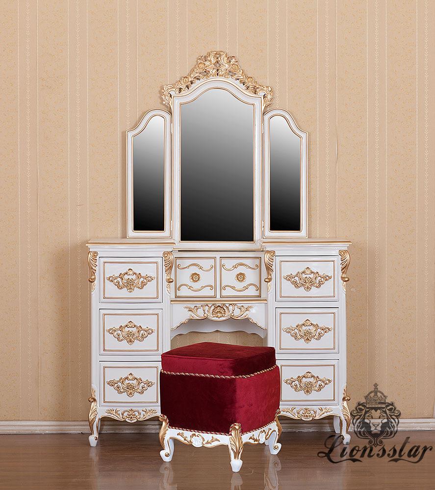 Spiegelkommode Barock Mahagoni Holz Sk.222
