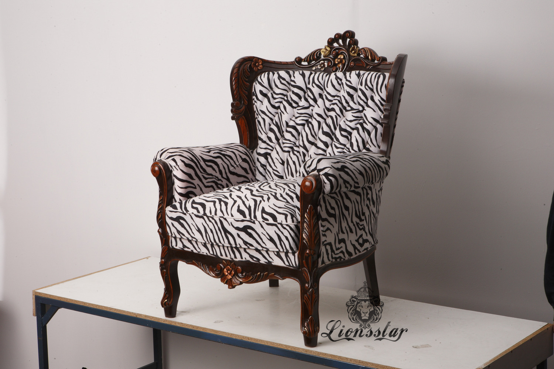 Thronstuhl Barock Zebra