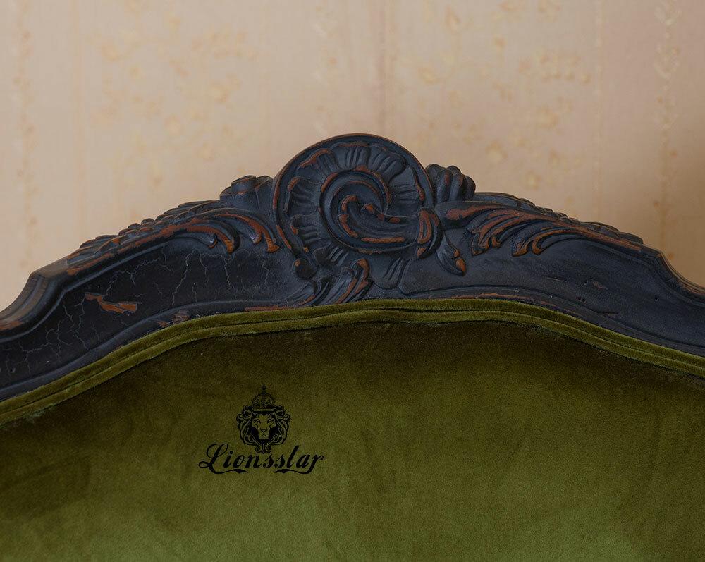 Luxus Sessel Shabby Stil Samt Glatt