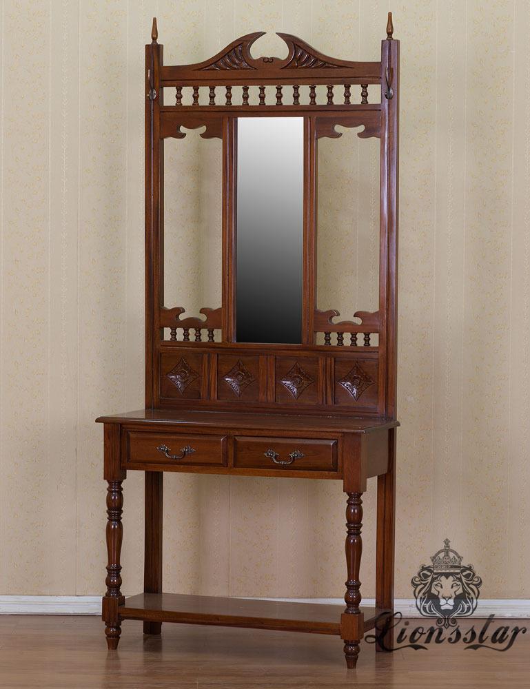 Spiegelkommode Barock Mahagoni Holz Sk.157