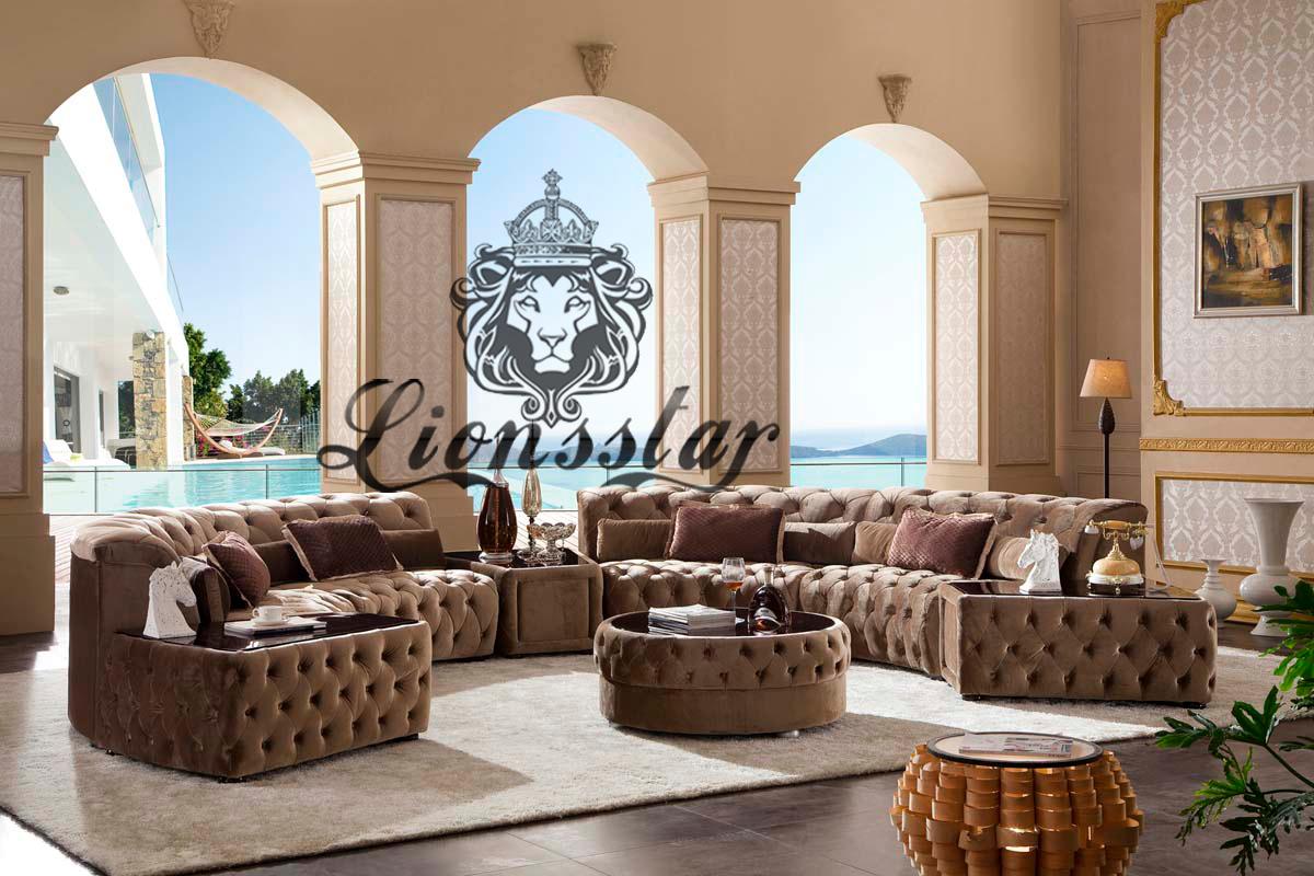 Luxus Sofa Set Rund