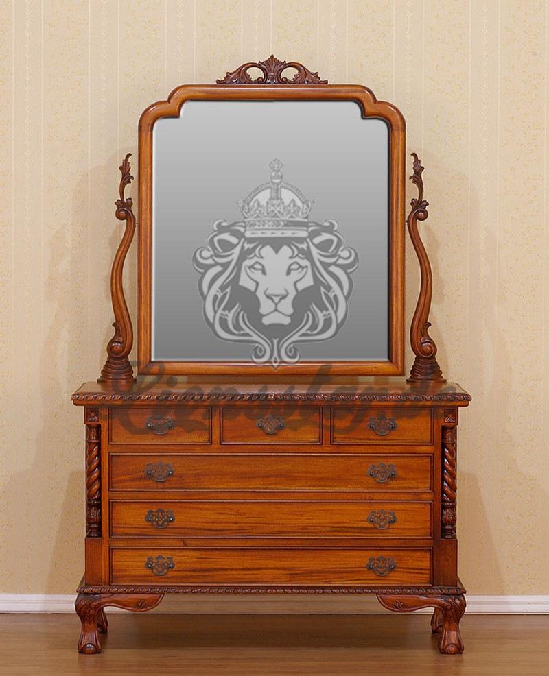 Spiegelkommode Barock Mahagoni Holz Sk.172