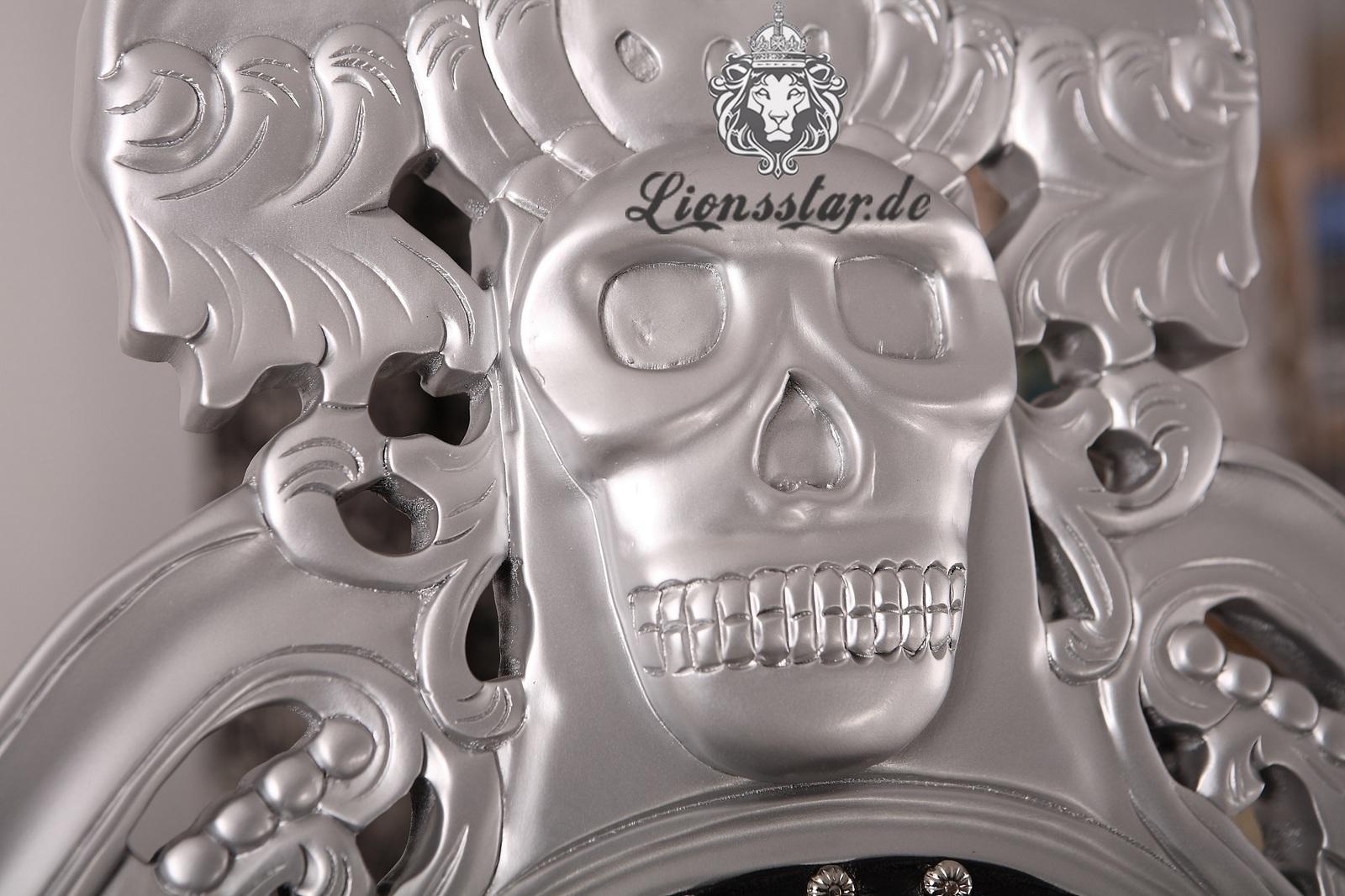 Thronstuhl Skull Silber