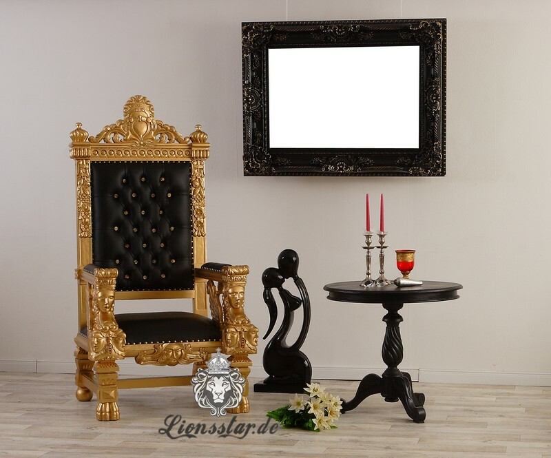 Thronstuhl Sphinx Gold Schwarz