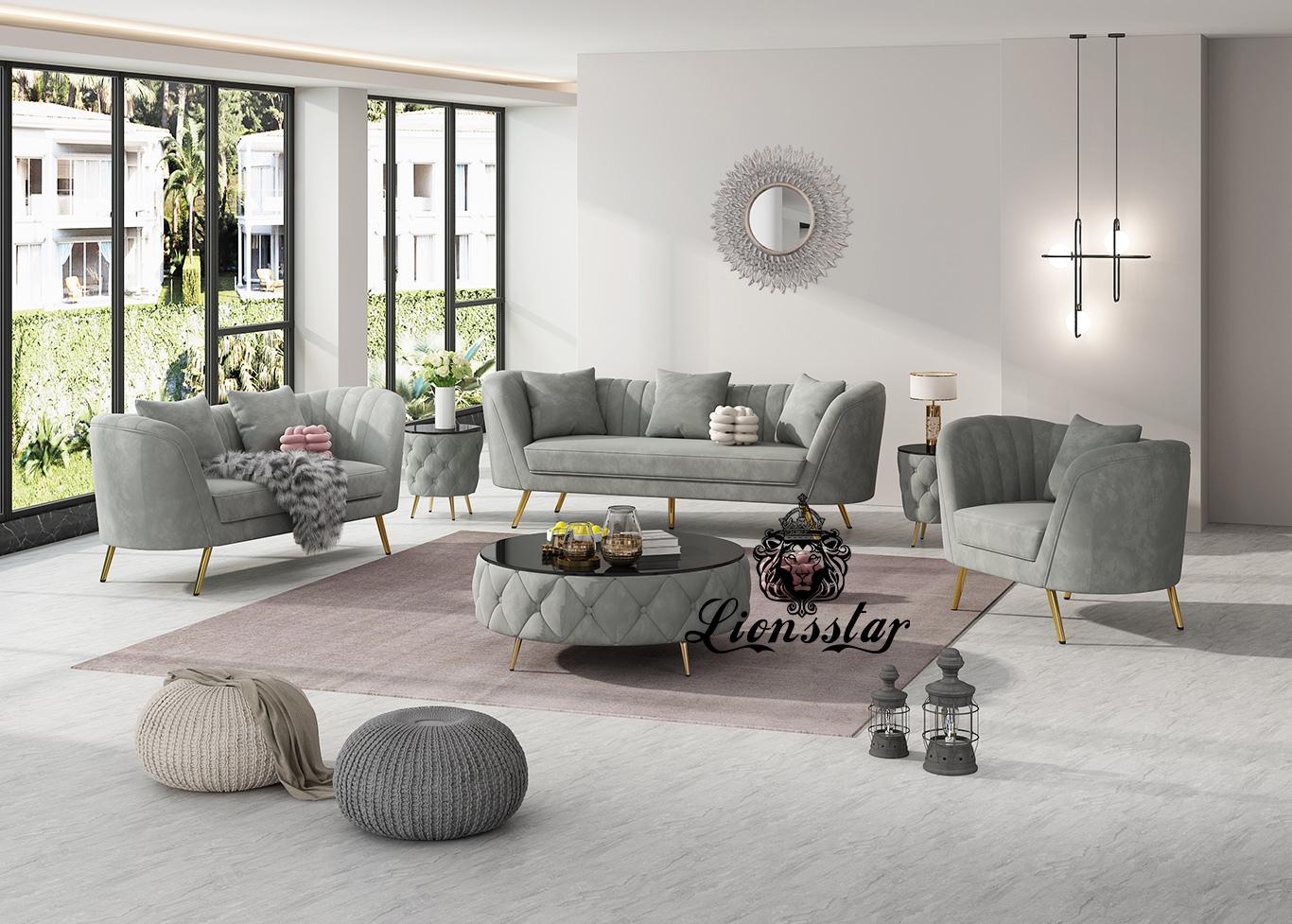 Luxus Designer Sofa Set Boston
