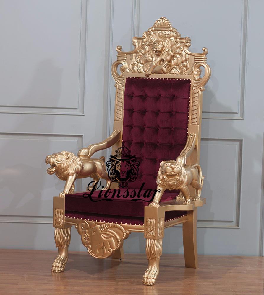 Thronstuhl Löwe Luxus Roaring Lion