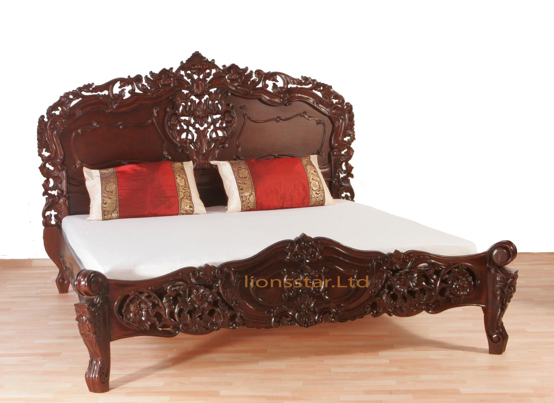 rokoko bett mahagoni lionsstar gmbh. Black Bedroom Furniture Sets. Home Design Ideas