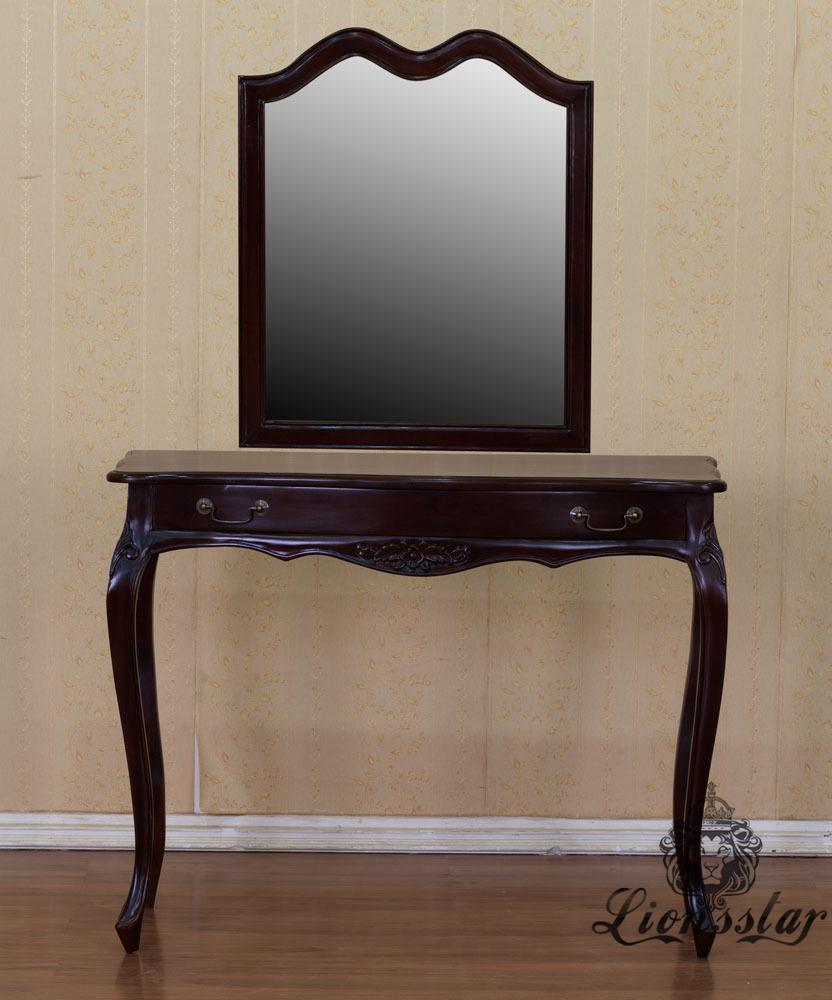 Spiegelkommode Barock Mahagoni Holz Sk.251