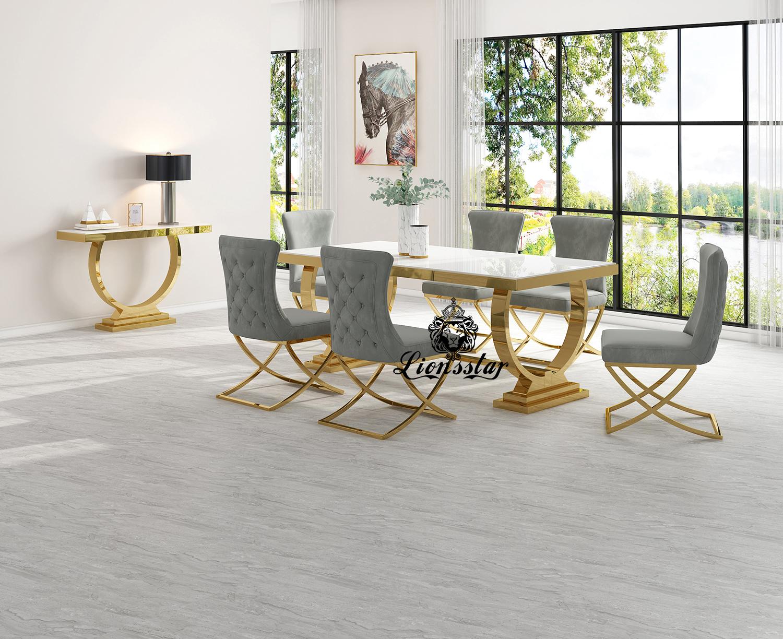 Luxus Esstisch Loft Design Golden