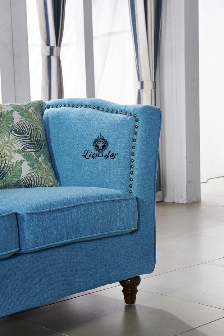 Luxus Design Sofa Kombination Azurblau