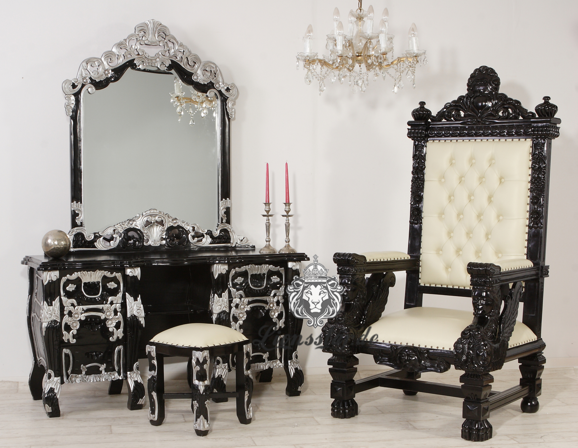 Spiegelkommode Massiv Luxus
