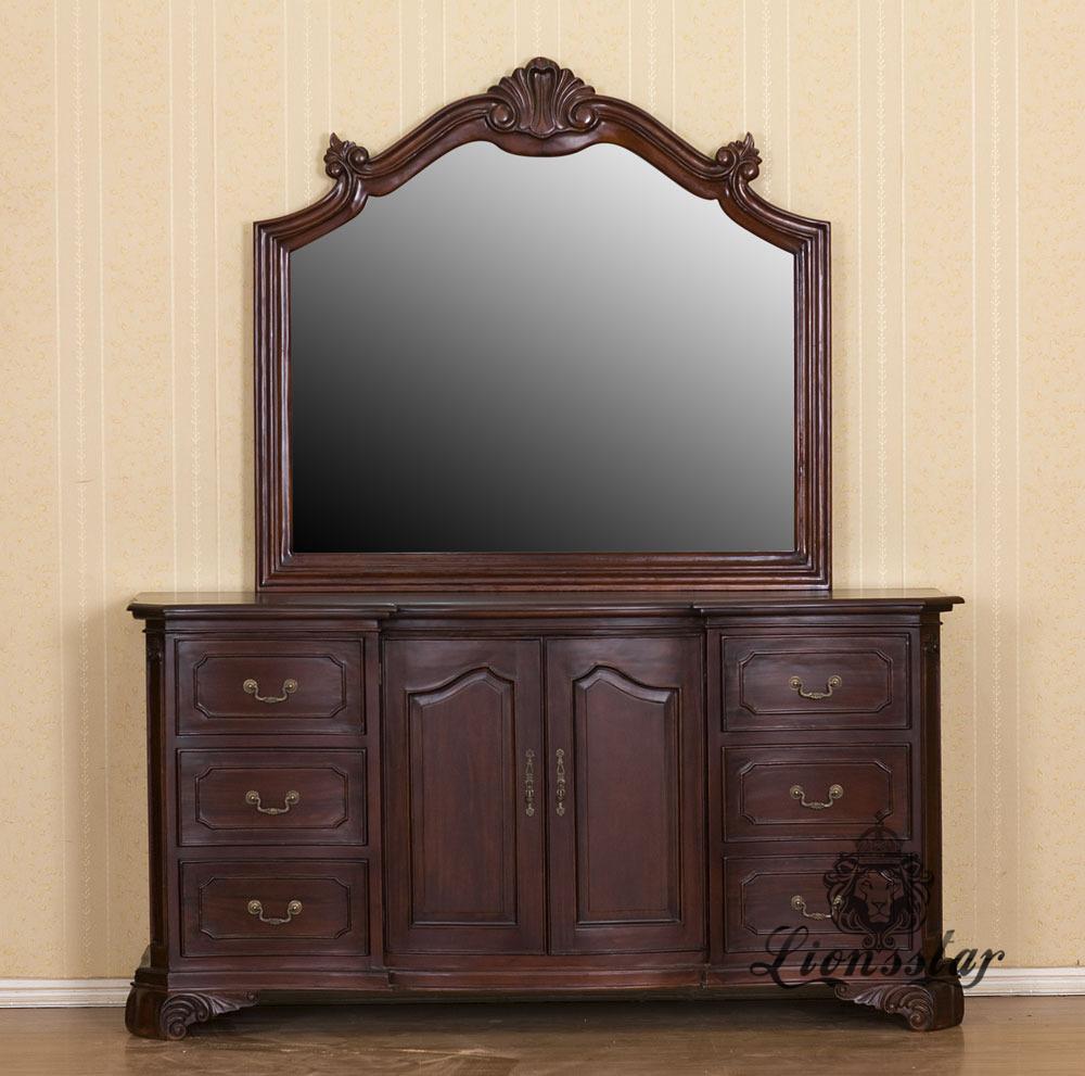 Spiegelkommode Barock Mahagoni Holz Sk.242