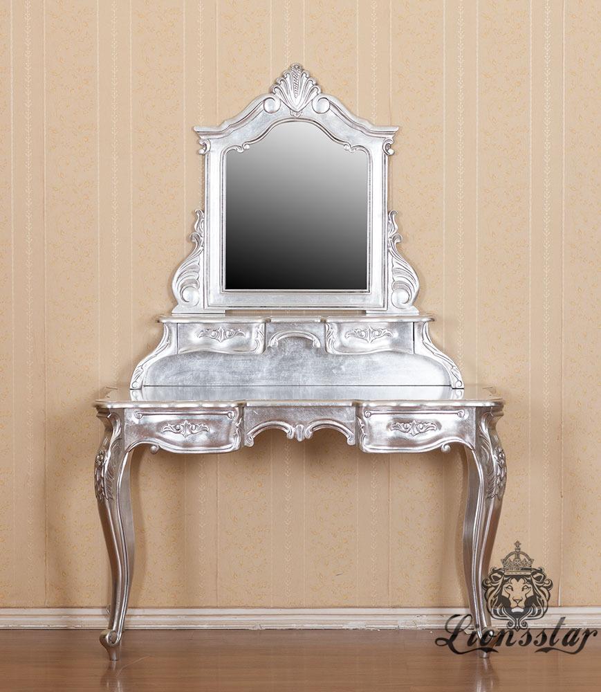 Spiegelkommode Barock Mahagoni Holz Sk.290
