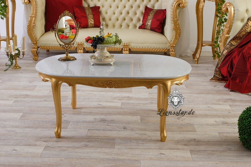 Luxus Couchtisch Marmorplatte