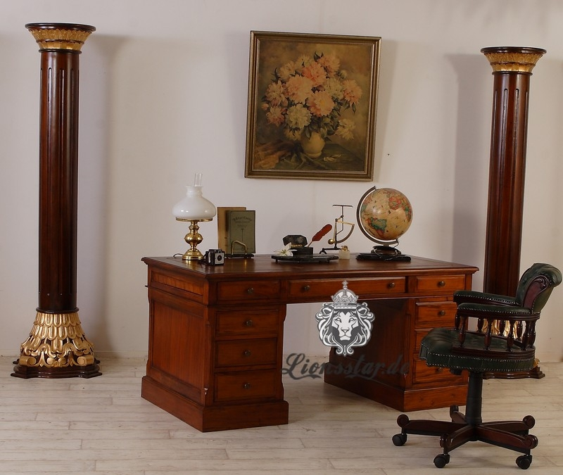 mahagoni schreibtisch lionsstar gmbh. Black Bedroom Furniture Sets. Home Design Ideas