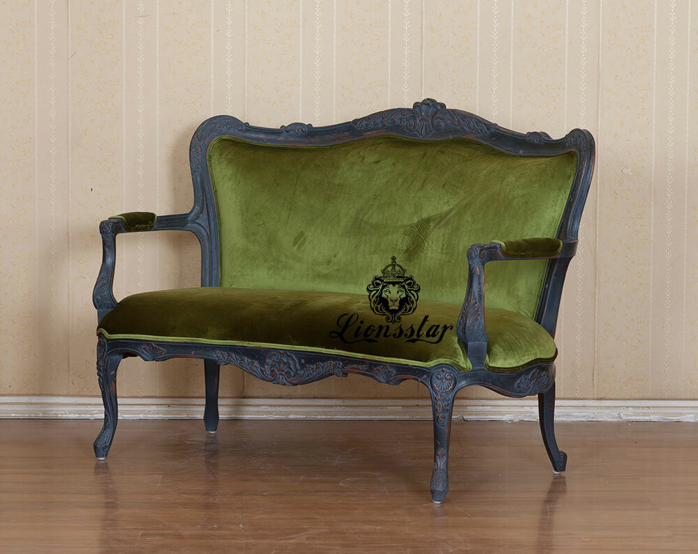 Barock Sofa Shabby Stil Velvet