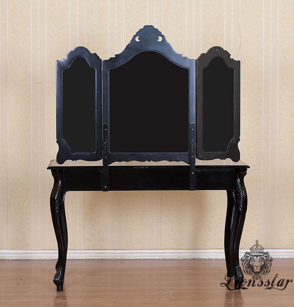 Spiegelkommode Barock Mahagoni Holz Sk.225
