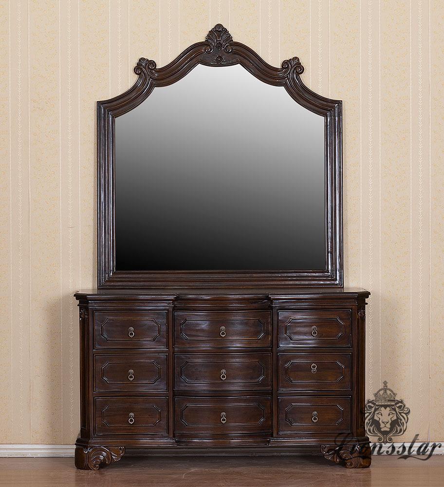 Spiegelkommode Barock Mahagoni Holz Sk.288