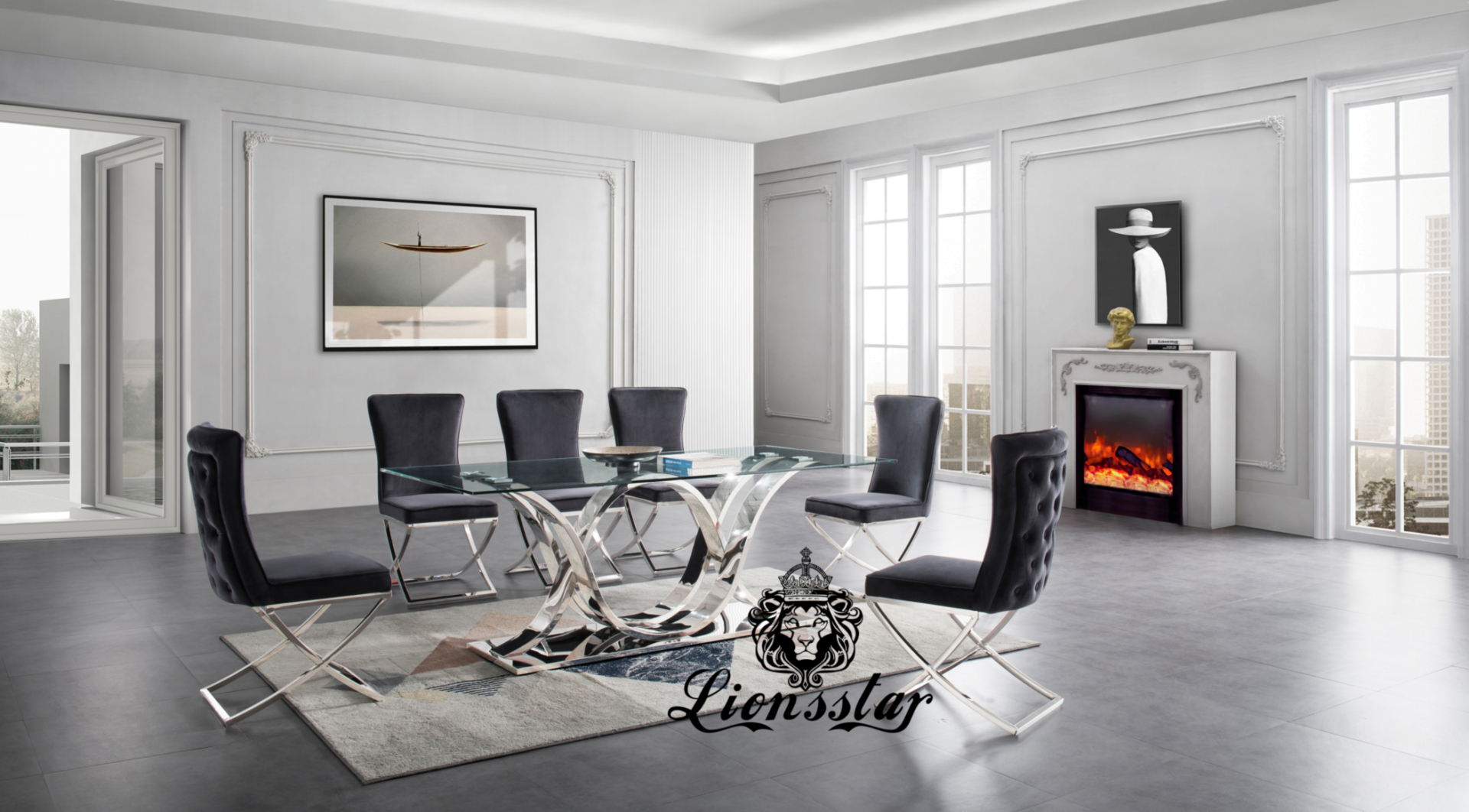Luxus Esstisch Set Light Loft Design