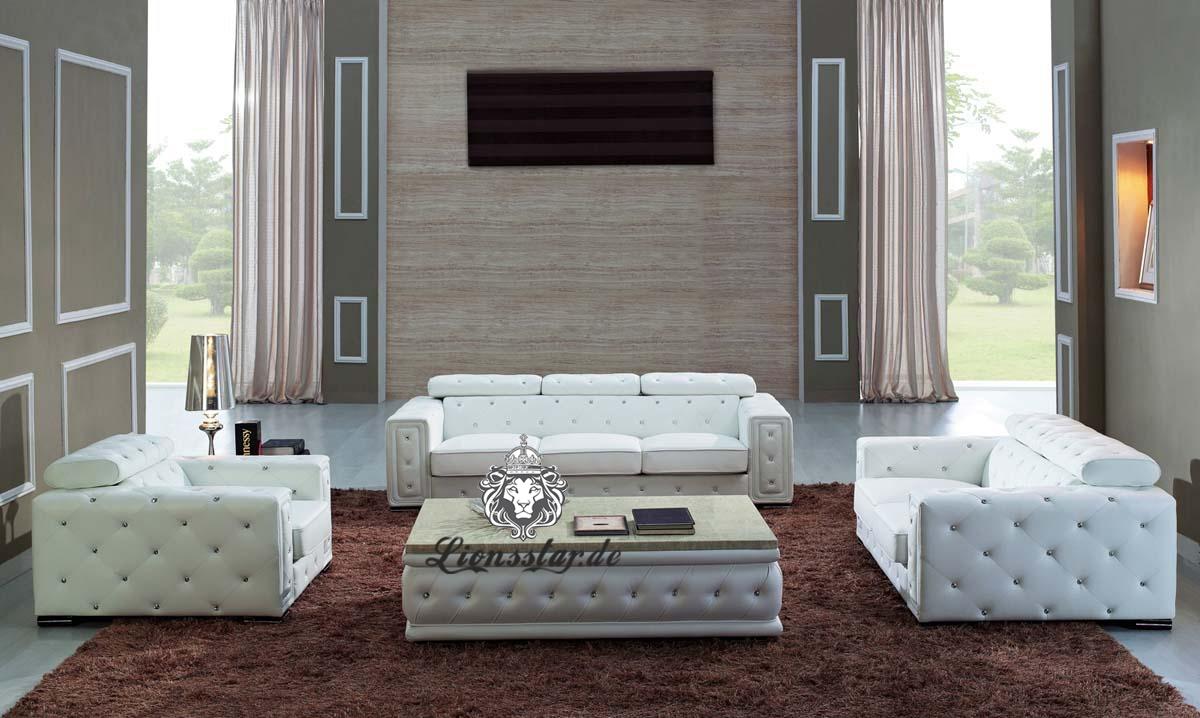 Luxus Sofagarnitur Schnee Weiß