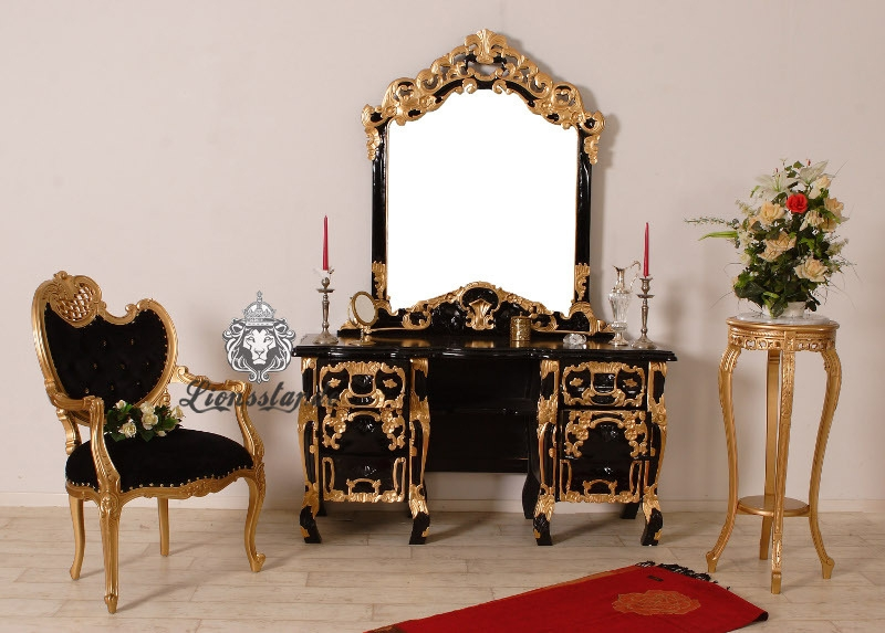 Spiegelkommode Massiv Gold