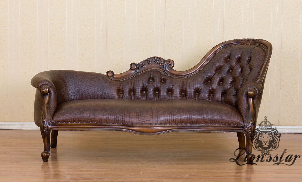 Recamiere Barock Mahagoni Holz R.310