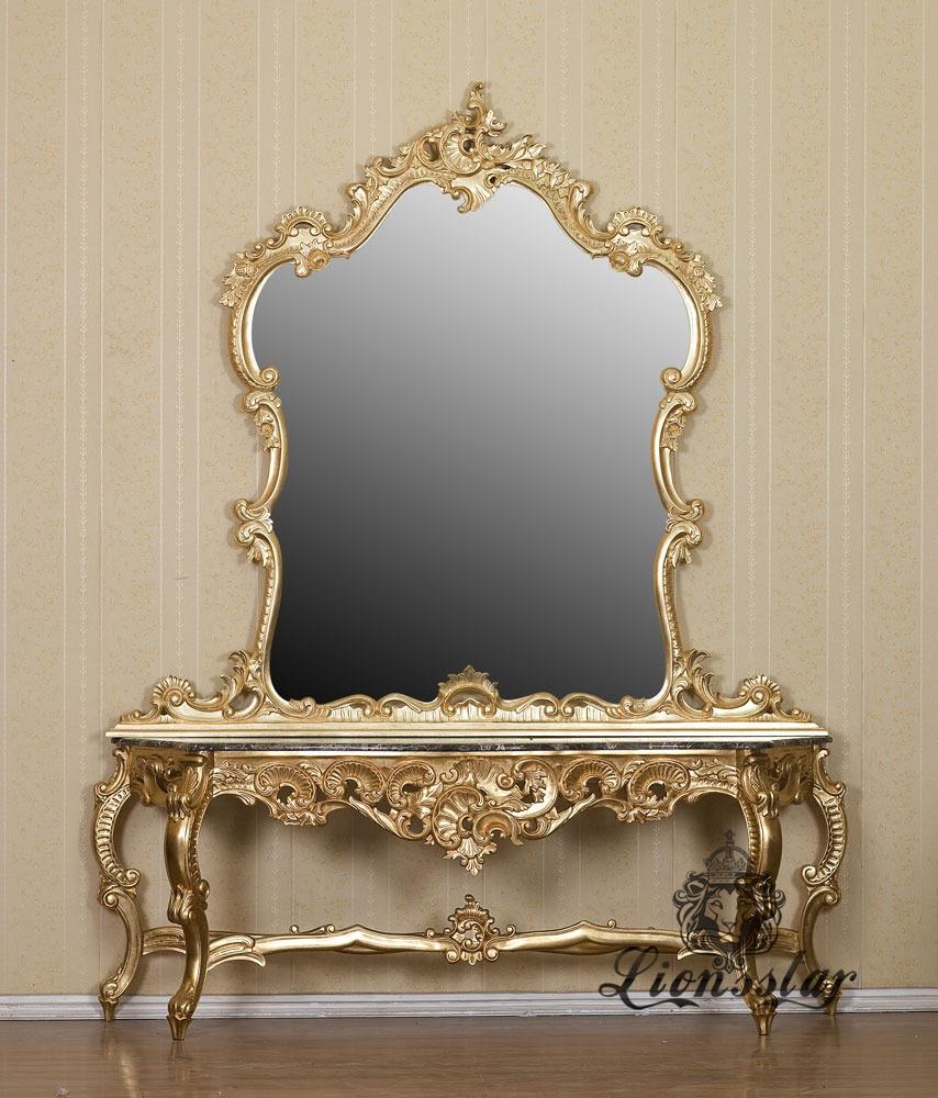 Spiegelkommode Barock Mahagoni Holz Sk.246