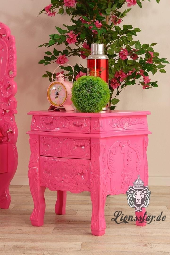 Nachttisch fürs Rococo Bett Baby Pink
