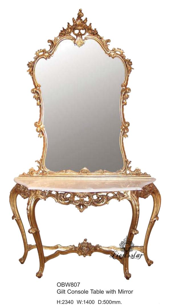 Spiegelkommode Barock Mahagoni Holz Sk.159