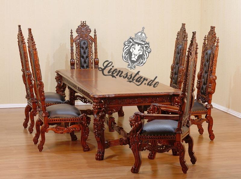 Esstisch aus massivholz in bester qualit t lionsstar gmbh for Esstisch barock holz