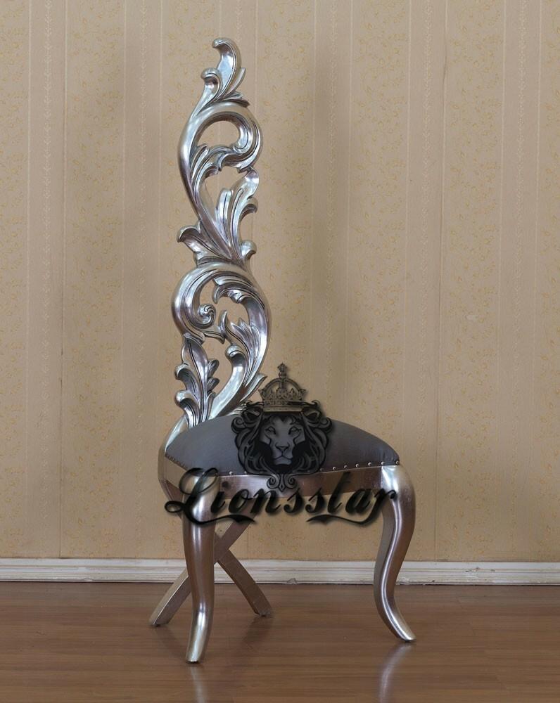 Stuhl Rose Silber Grau