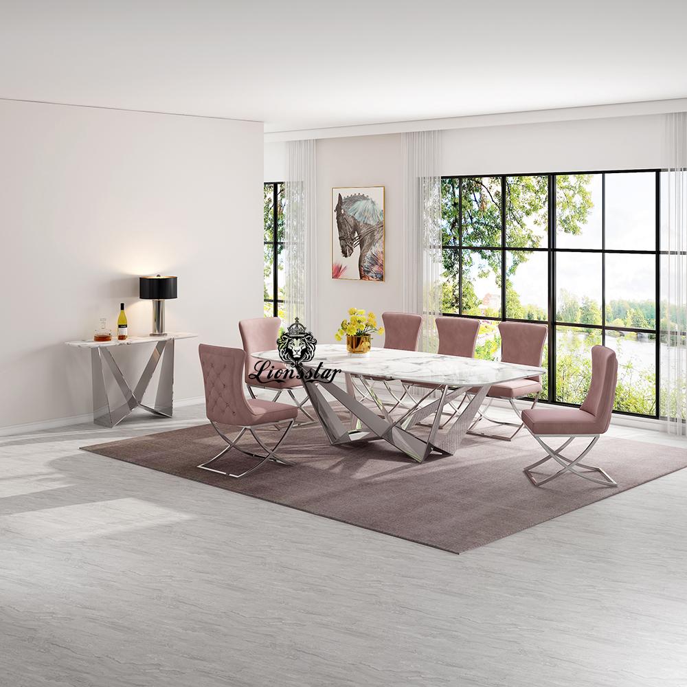 Luxus Designer Esstisch Set Abstract