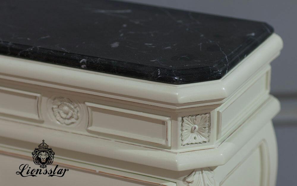 Nachttisch Marmor Stil Klassisch