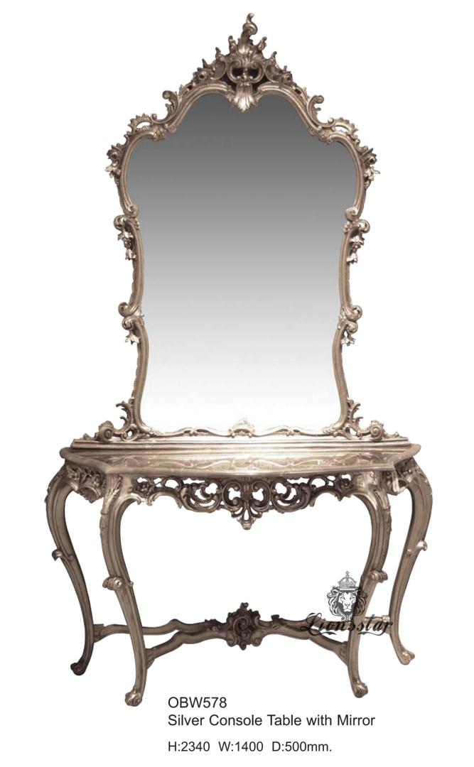 Spiegelkommode Barock Mahagoni Holz Sk.160