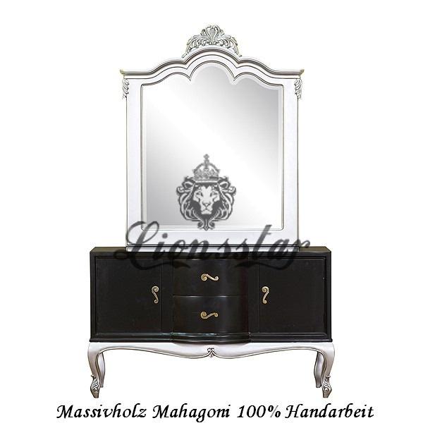 Spiegelkommode Barock Mahagoni Holz Sk.136