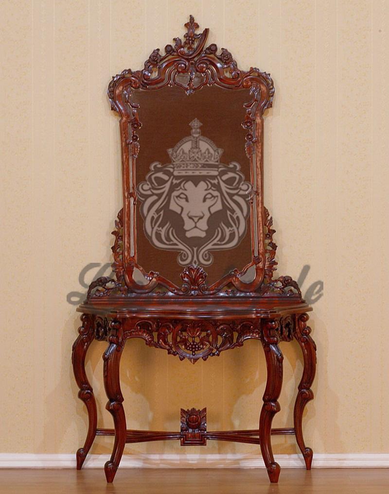 Spiegelkommode Barock Mahagoni Holz Sk.264