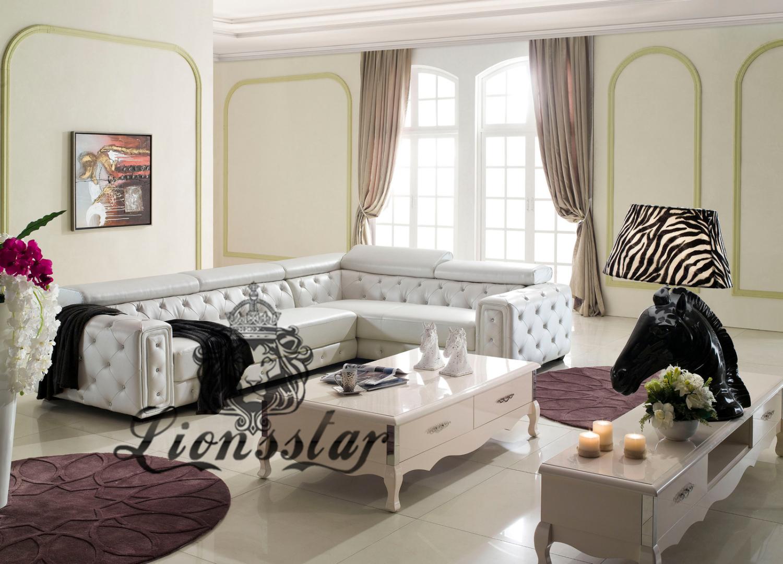 Wohnzimmer Sofaset mit Couch Weiß