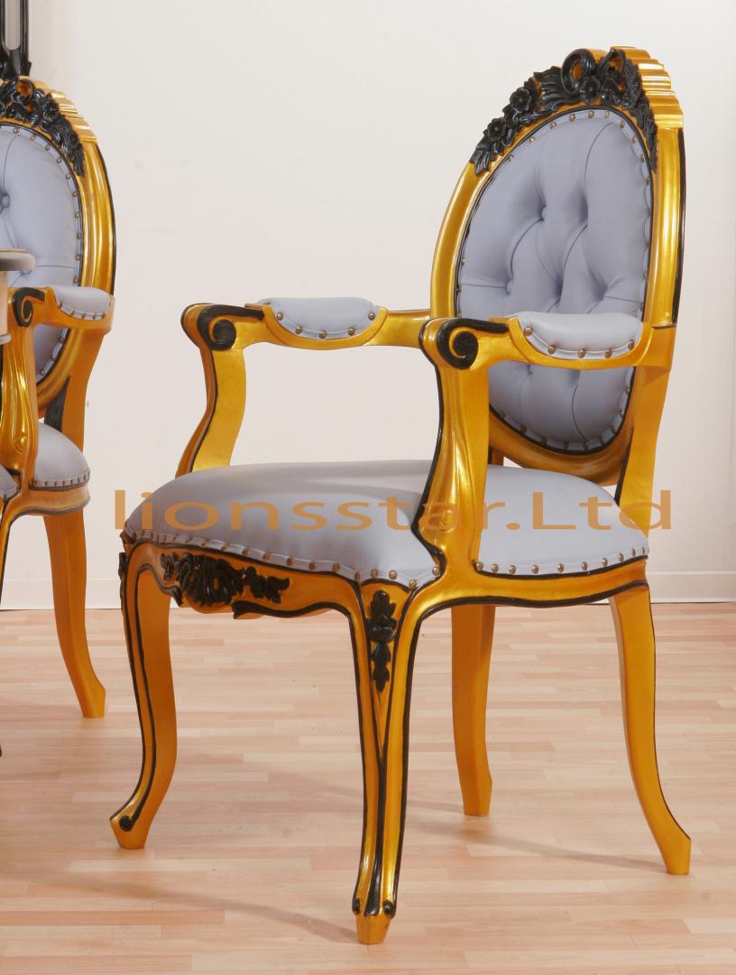 Luxus Stuhl Gold