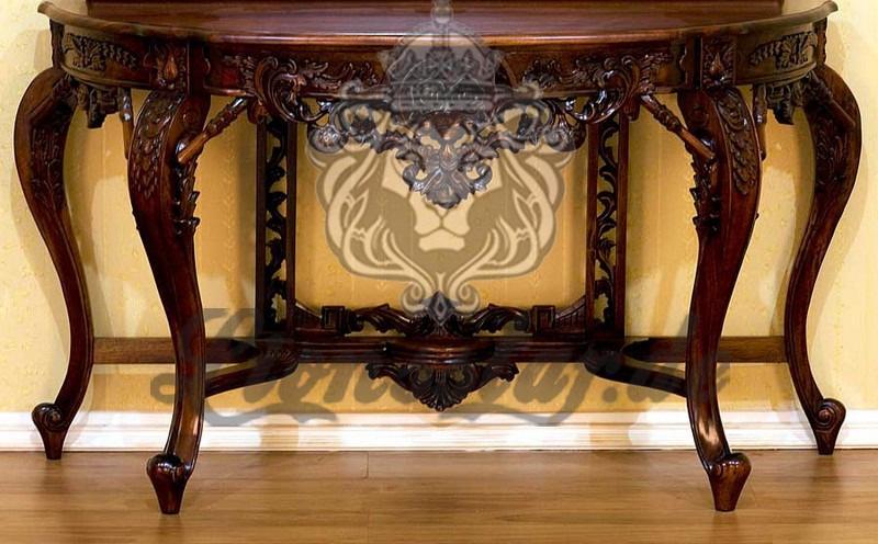 Spiegelkommode Barock Mahagoni Holz Sk.263