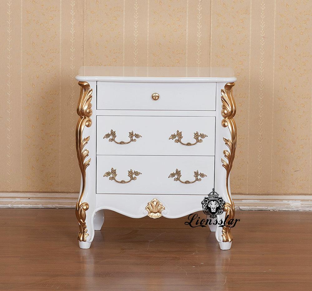 Nachttisch Luxus Gold-Dekor