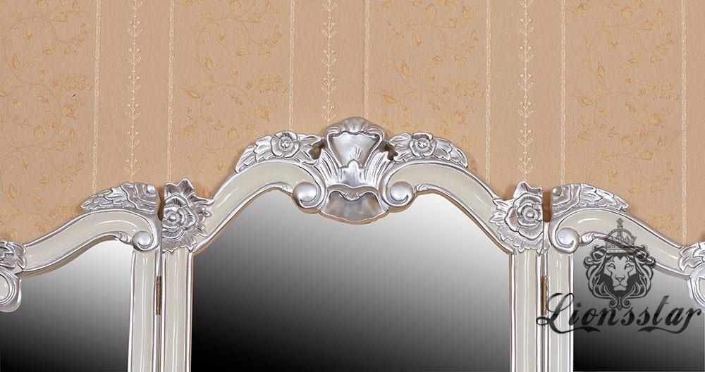 Spiegelkommode Barock Mahagoni Holz Sk.233