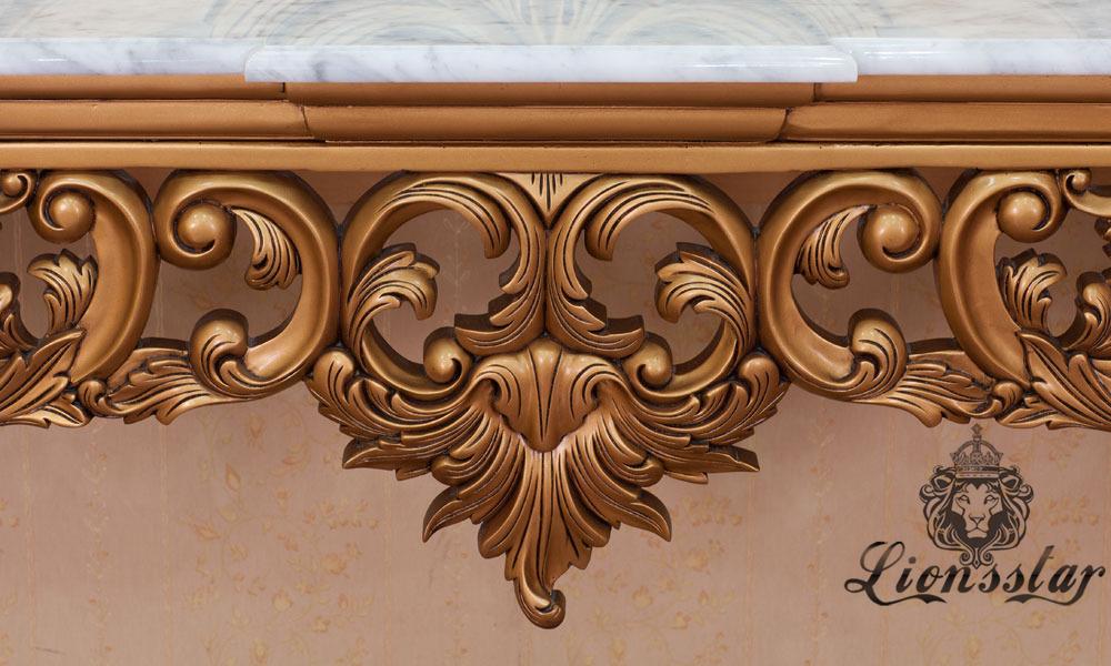 Spiegelkommode Barock Mahagoni Holz Sk.248
