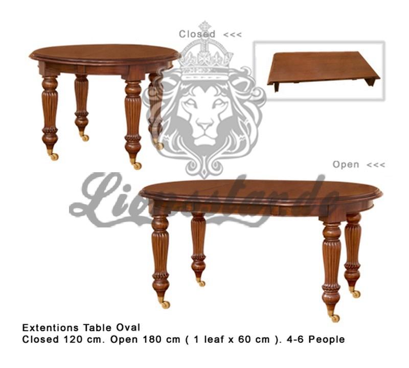 Louis XVI Esstisch Oval