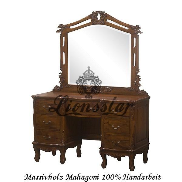 Spiegelkommode Barock Mahagoni Holz Sk.117